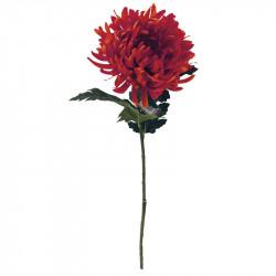 Krysantemum på stjälk, 63 cm Röd, konstgjord blomma