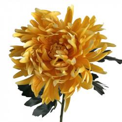 Krysantemum på stjälk, 63 cm Gul, konstgjord blomma