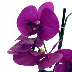 Orkidé i kruka Fuchsia 65 cm, konstgjord blomma