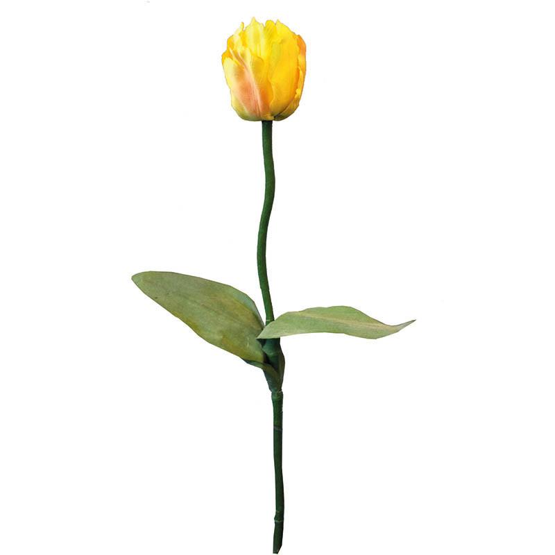 Tulpan på stjälk, 62 cm Gul, konstgjord blomma