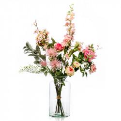 Hög Blombukett i rosa nyanser, konstgjord blomma