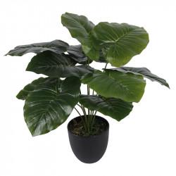 Elefantöra-växt i kruka, konstgjord växt