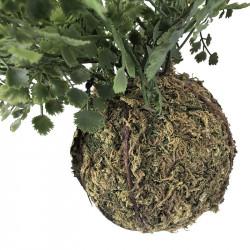 Hänga-Suckulent med mosskula, konstgjord växt
