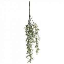 Hängväxt, 84 cm m. vita johannes-blommor, Konstgjord växt