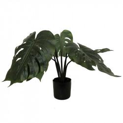 Monstera i svart kruka, 60 cm, konstgjord växt