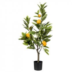 Citronträd i kruka, 90 cm, konstgjord växt