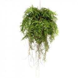 Häng-ormbunke på pilboll, Ø 55 cm, konstgjord växt