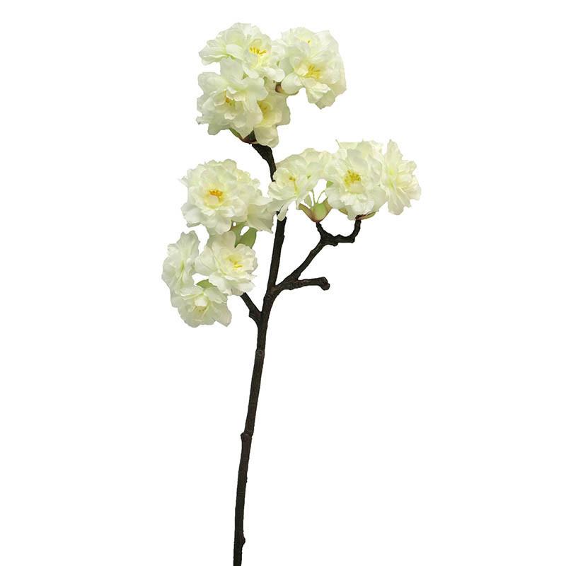 Körsbärsgren, 40 cm Crèmefärgad, konstgjord blomma