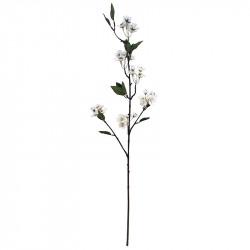 Körsbärsgren, 87 cm med vita blommor, konstgjord blomma