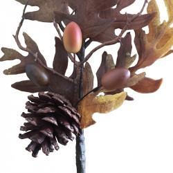 Höstgren med kottar, 50 cm, konstgjord gren
