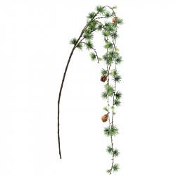 Lärkträd-hänggren, 126 cm med kottar, konstgjord gren