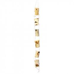 Björkträ-ranka med 6 bitar trä