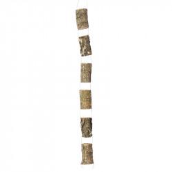 Träranka med 6 träbitar