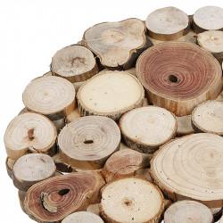 Trämatta, Ø: 30 cm med små träbitar