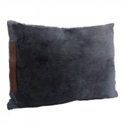 Kudde med läderhandtag