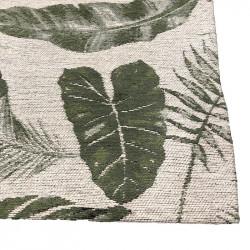 Golvmatta, Jacquardvävd med bladmotiv, 180 x 120 cm