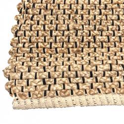 Handgjord jute- och bomullsvävd golvmatta, 170 x 120 cm