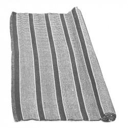 Utomhusmatta, breda ränder stålgrå, pvc, 180x120 cm