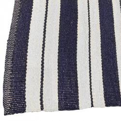 Utomhusmatta, breda ränder mörkblå, pvc, 180x120 cm