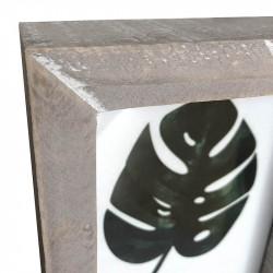 Bildram med bild på monstera-blad, 16 x 21