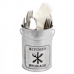Bestickhållare med handtag, H: 15 cm för köksförvaring