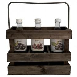 Flaskbehållare med hank, 3 flaskor