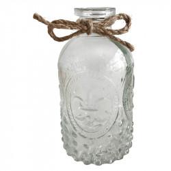 Glasflaskset i trälåda, med 4 flaskor