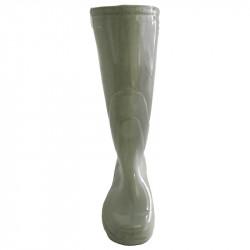 Gummistövel-vas i porslin, H: 29 cm