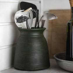 Kruka / vas, Grön Keramik 19 cm