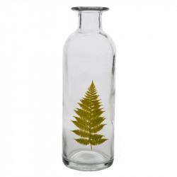 Flaska 26,5 cm med brett ormbunksblad