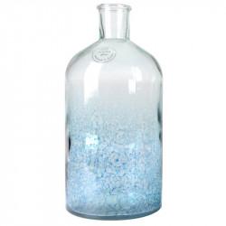 Flaskvas i oxiderat glaset, ljusblå, H: 28 cm