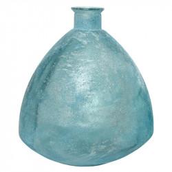 Knubbig Vas, antik look, ljusblå, H: 44 cm