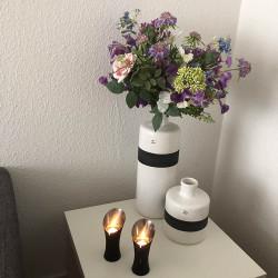 Vas med sprickmönstrad yta, 22 cm