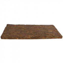 Mosaik-underlägg i bark 45 x 20 cm