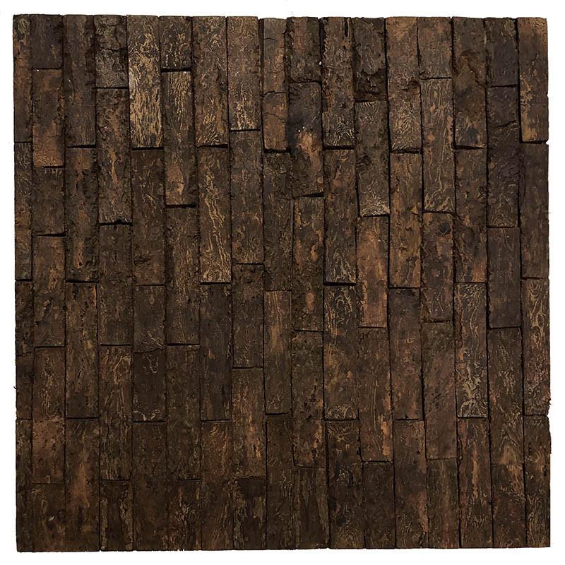 Mosaikmönstrat underlägg i bark 30 x 30 cm
