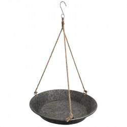 Zinkbricka med 3 rep för upphängning, Ø: 52 cm