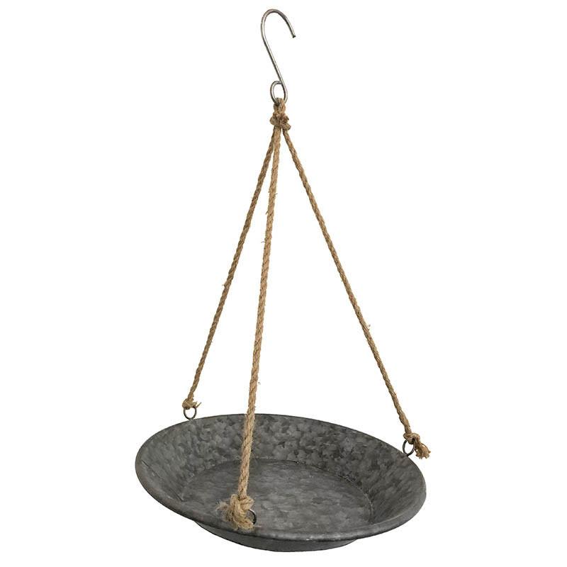 Zinkbricka med 3 rep för upphängning, Ø: 36 cm