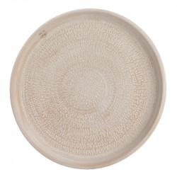 Keramikfat, med struktur, Ø 50 cm, crèmefärgat