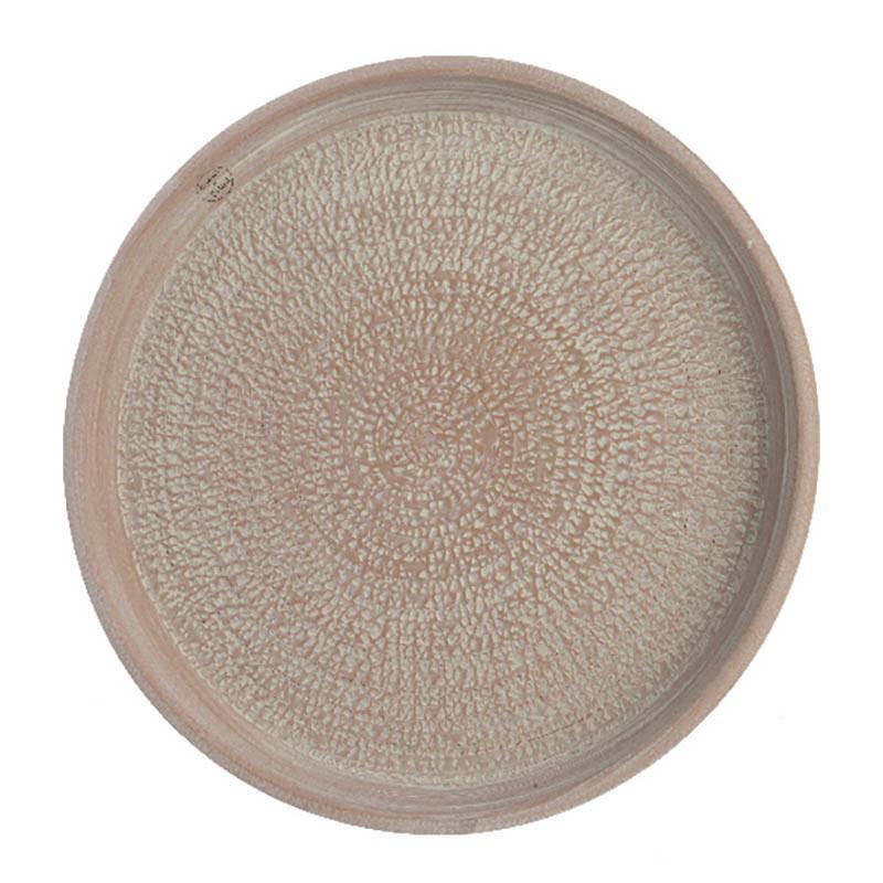Keramikfat, med struktur, Ø 50 cm, sandfärgad