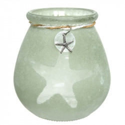 Ljusstake med sjöstjärna-bihang H: 10,5 cm