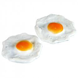 Stekta ägg, 2 st. konstgjord mat