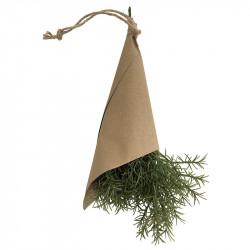 Kryddört, Dill 32 cm i pappersomslag, konstgjord växt