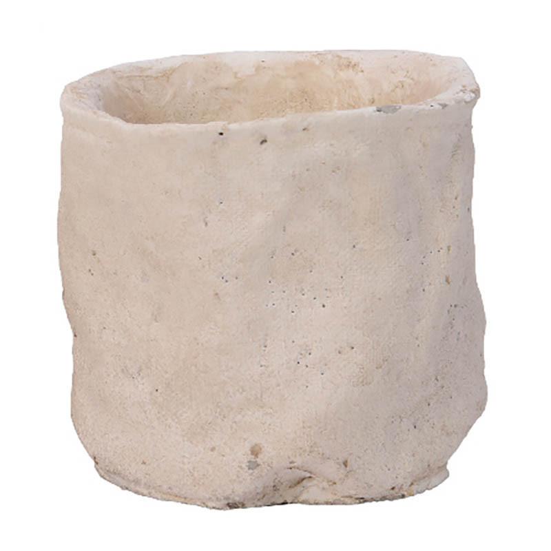 Cementkruka, H 17,5 cm
