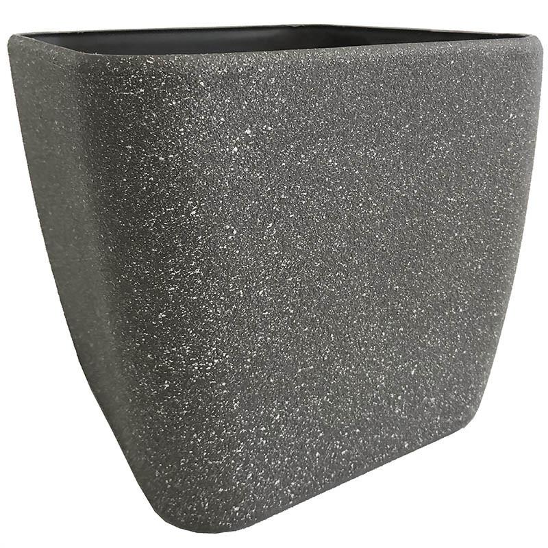 Växtkruka, fyrkantig, antracitgrå, H 20 cm B 22 x 22 cm
