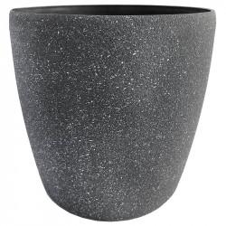 Växtkruka, rund, antracit-grå, H 20 cm Ø 22 cm
