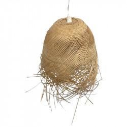 Bambu-taklampa med fransar, Ø: 37 cm