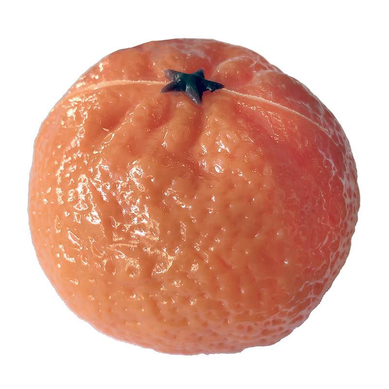 Mandarin Ø 6 cm, konstgjord mat