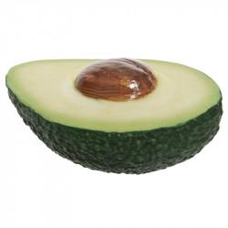 Halv avokado med kärna, konstgjord mat