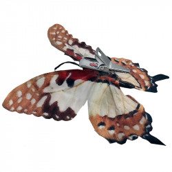 Fjärilar Orange, 6 st. i box, konstgjorda fåglar