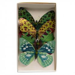 Fjärilar, 14 cm på ståltråd i 4-pack, konstgjorda fjärilar